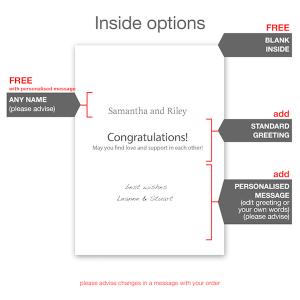 funny minimalist wedding wishes card wed011 inside options