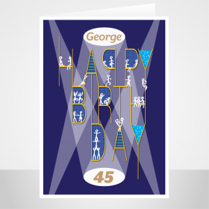personalised name age birthday card for him party night bth047 display 1
