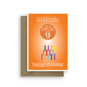 funny 13th birthday card edit name for boy or girl candles bth244 card