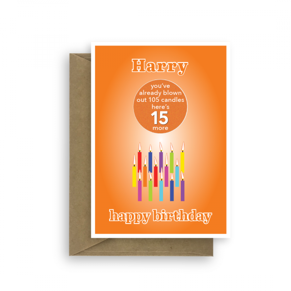 funny 15th birthday card edit name for boy or girl candles bth246 card