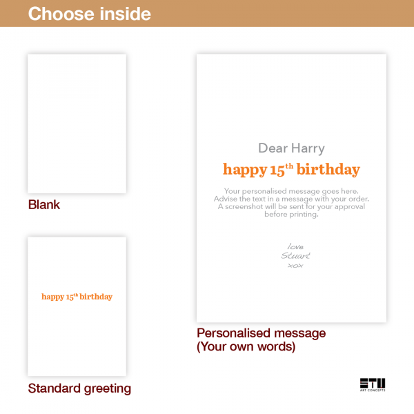 funny 15th birthday card edit name for boy or girl candles bth246 inside