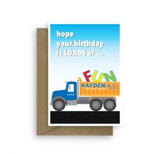 4th birthday card boy truck edit name bth266 card