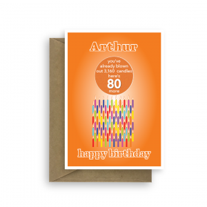 funny 80th birthday card edit name for her or him candles bth258 card