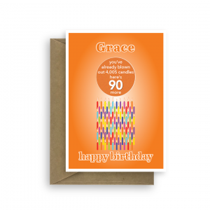 funny 90th birthday card edit name for her or him candles bth259 card