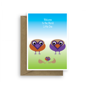 new baby card welcome to the world bby001 card