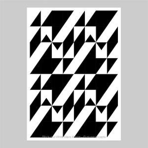 black and white stairs illusion print stuartconcepts p0028 artwork