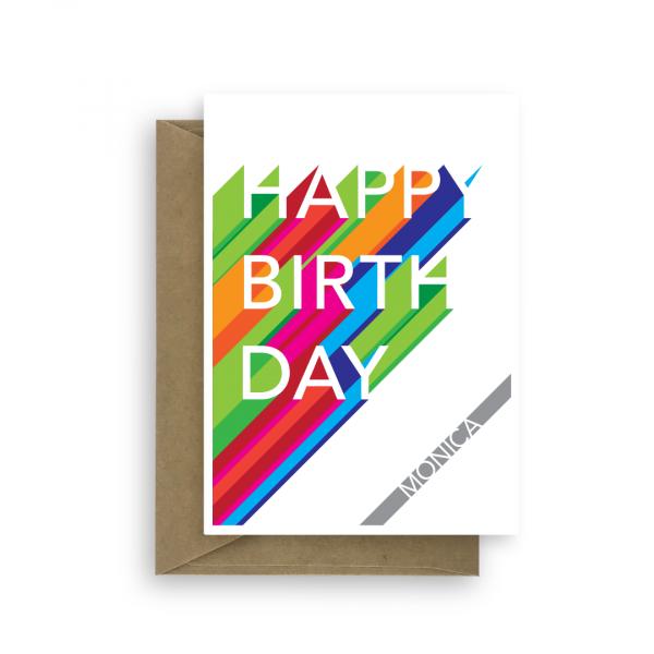 happy birthday card edit name long shadow bth155 card