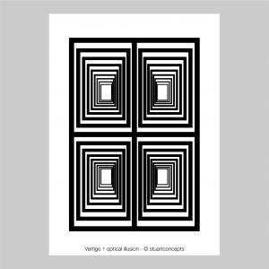 vertigo 1 optical illusion print stuartconcepts p0029 artwork