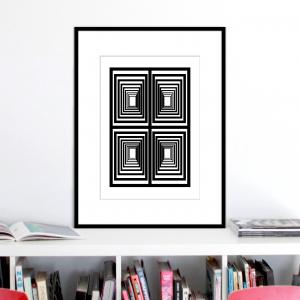 vertigo 1 optical illusion print stuartconcepts p0029 black frame