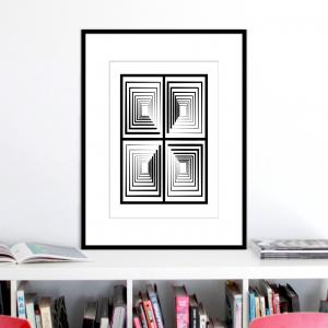 vertigo 2 optical illusion print stuartconcepts p0030 black frame