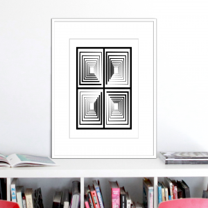 vertigo 2 optical illusion print stuartconcepts p0030 white frame