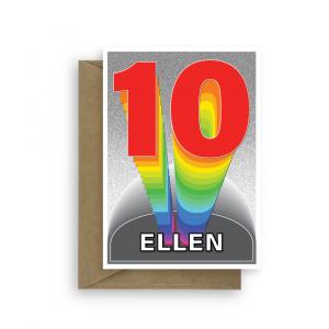10th birthday card boy girl rainbow tower bth365 card