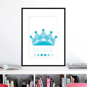 crown ocean colours name print stuartconcepts p0034 black frame