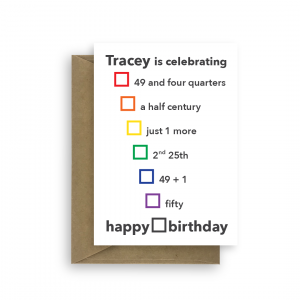 funny 50th birthday card for her or him options bth384 card
