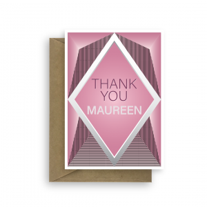 thank you card for her diamond pink thk009 card