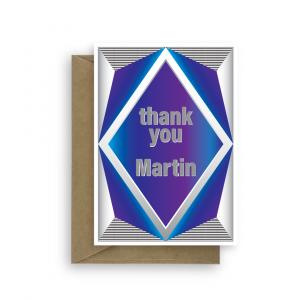 thank you card for him blue diamond thk010 card