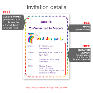 7th birthday invitation inv007 invite details