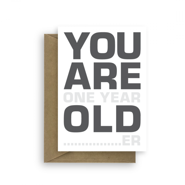 funny birthday card for him her you are old bth393 card