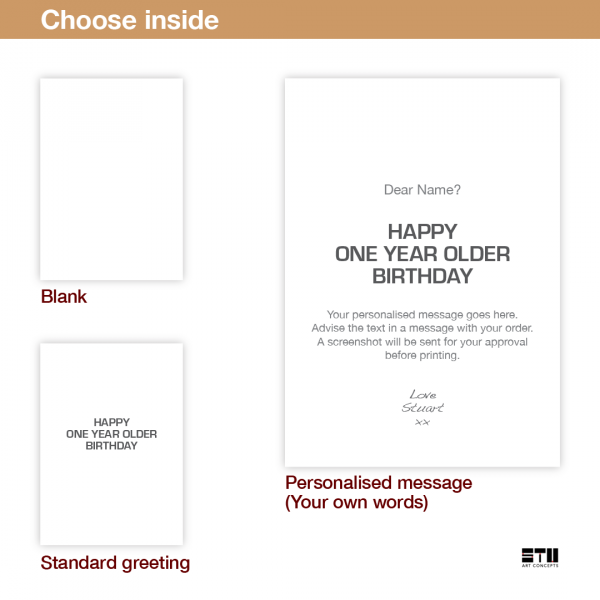 funny birthday card for him her you are old bth393 inside