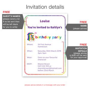 13th birthday invitation inv013 invite details new
