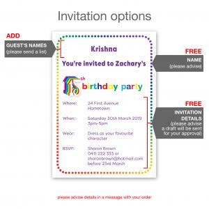 15th birthday invitation inv015 invite new details