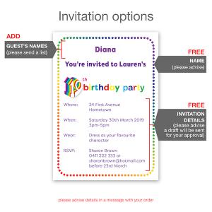 19th birthday invitation inv019 invite details new