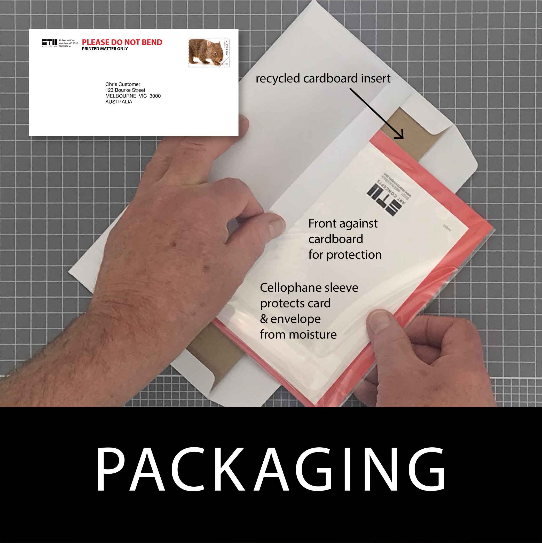 How I package your card