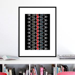 red spine print stuartconcepts p0036 black frame
