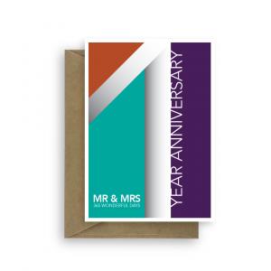 1st wedding anniversary 365 days ann018 card