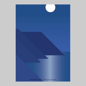 moonlight coast print stuartconcepts p0039 artwork