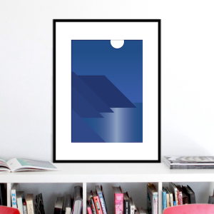 moonlight coast print stuartconcepts p0039 black frame