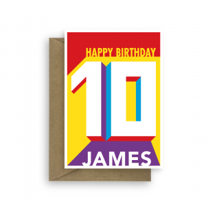 10th birthday card edit name for him her bth429 card