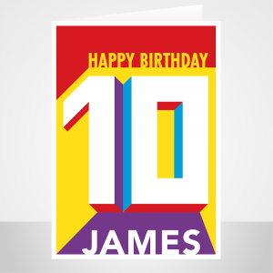 10th birthday card edit name for him her bth429 display 1