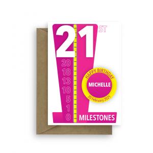 milestones 21st birthday card for her bth451 card