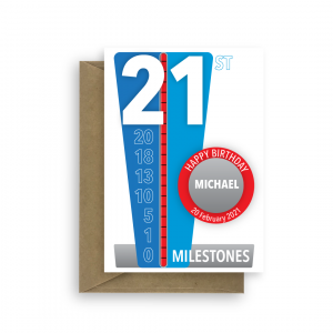milestones 21st birthday card for him bth450 card