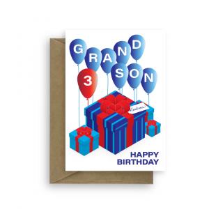 grandson birthday card presents bb047 card